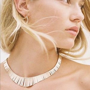 Free people Faye collar necklace goldstone new